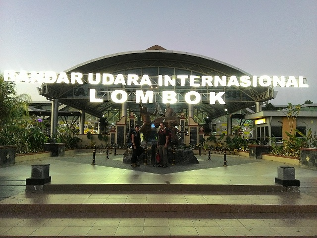 Just arrived International Airport Lombok