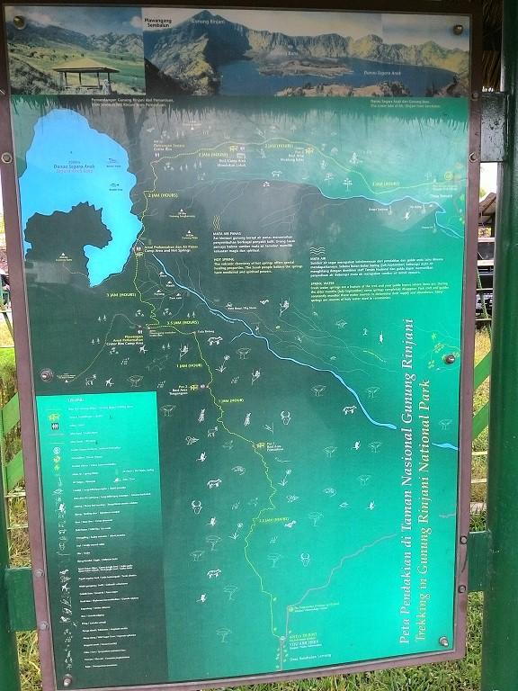 Map of Rinjani Park